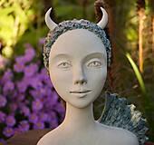 Socha - dráčik - keramická  socha - 12386003_