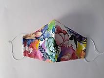 Dizajnové rúško akvarel prémiové tvarované dvojvrstvové