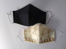 Rúška - Dizajnové rúška pár kvietky tvarované dvojvrstvové - 12388241_
