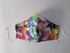 Rúška - Dizajnové rúško akvarel prémiové tvarované dvojvrstvové - 12387813_