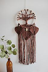 """Dekorácie - makramé lapač snov """"strom života""""hnedý - 12387779_"""