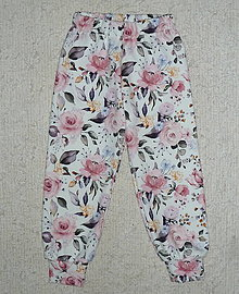 Detské oblečenie - Tepláčky Maľované kvety - 12390930_