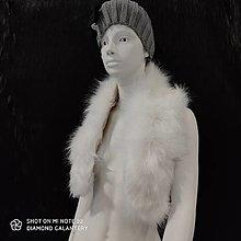 Textil - Kožušinový golier - 90 cm (Biela) - 12391510_