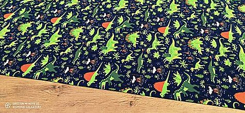 Textil - Úplet - Dino - cena za 10 centimetrov - 12391587_