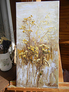 Obrazy - Jesenné trávy - 12388598_