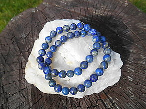 Náramky - king blue lapis lazuli-lazurit-náramok - 12391592_