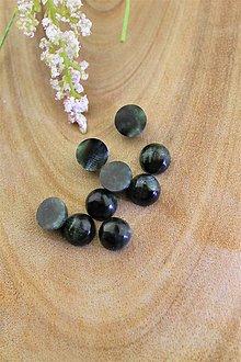 Minerály - serafinit kabašony korálky 10mm, AA kvalita - 12391591_
