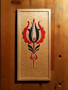 Obrazy - Ľudový ornament farebný na stenu - 12390904_