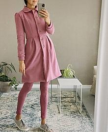 Kabáty - Teplákový podšitý kabátik - rôzne farby - 12389045_