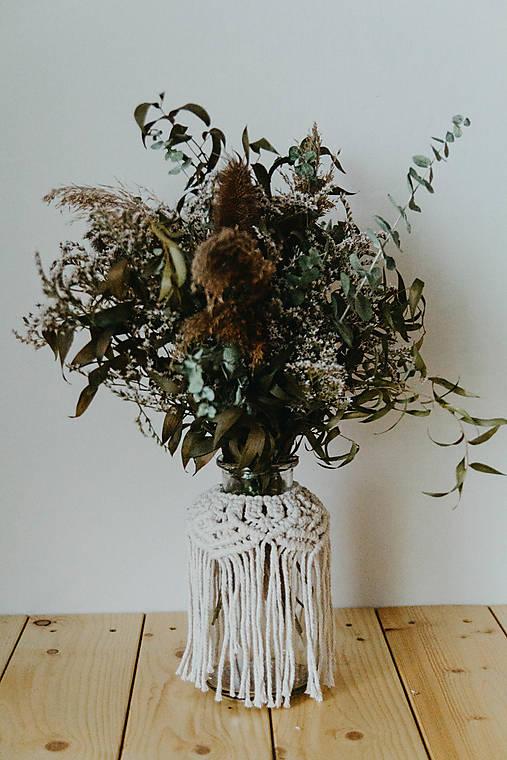 Dekorácie - macrame vázy - 12391020_