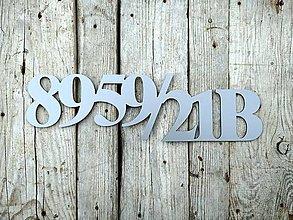 Tabuľky - Popisné číslo: Držíme spolu (10 cm) (6 čísel) - 12387571_