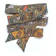 Náhrdelníky - Mašľa viazacia ornamentová - 12389404_