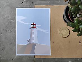 Grafika - Maják print, plagát - 12389797_