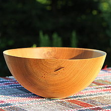 Nádoby - miska z dubového dreva - 12388010_