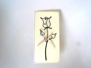 Papiernictvo - ružička Pohľadnica *20 cm - 12390903_