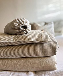 Úžitkový textil - Ľanové obliečky Silvia - 12390188_