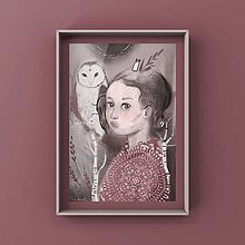 Grafika - Print-Spirit animal-sova - 12388524_