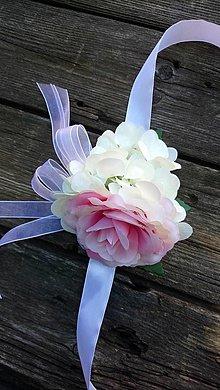 Náramky - Náramok ruža s hortenziou - 12396219_