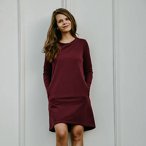 Šaty - Šaty Bordó Fairly - 12392582_