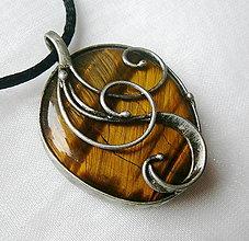 Náhrdelníky - Prívesok s tigrím okom § LISBETH § - 12394583_