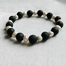 Náramky - Náramok perla a láva - 12395218_