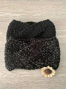 Ozdoby do vlasov - Pletené čelenky (také čierne) - 12395274_