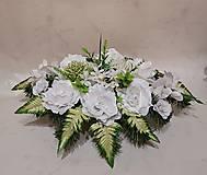 zaťažená ikebana na hrob biela 50 cm