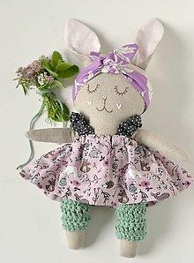 Hračky - zajka vo fialovom - 12392713_