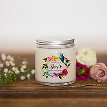 Svietidlá a sviečky - Sójová sviečka - Šťastie - 12394688_