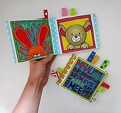 Hračky - Textilná knižočka  (Zvieratká z dvora) - 12393202_