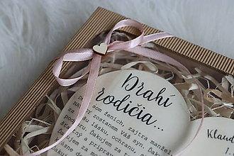 Darčeky pre svadobčanov - Darčekové balenie v krabičke - 12392220_