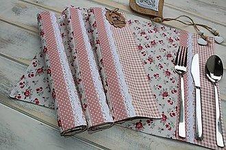 Úžitkový textil - Prestieranie-ružičky - 12392014_
