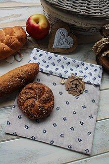 Úžitkový textil - Vrecúško na desiatu-kvietok - 12392285_
