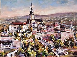 Obrazy - Pohľad na Nitriansky hrad - 12394645_