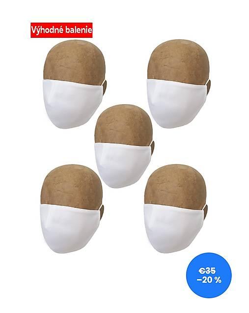 Rúška BIELE 5 PACK UNISEX