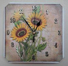 Hodiny - Nástenné hodiny - Slnečnice 🌻 - 12394415_