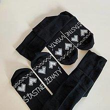 Obuv - Maľované ponožky pre novomanželov alebo k výročiu svadby folk (čierne + čierne) - 12395385_