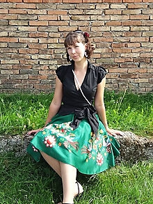 Sukne - Zelená sukňa Amália - 12392116_