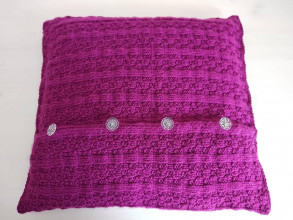 Úžitkový textil - Malinovo cyklaménový vankúš - 12392558_