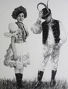 Obrazy - Slovenská svadba - 12395515_