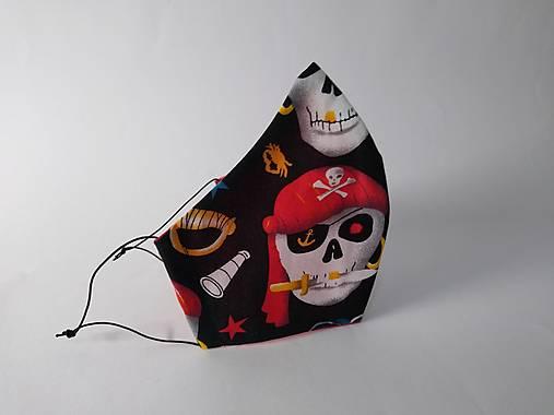Dizajnové rúško pirát tvarované dvojvrstvové
