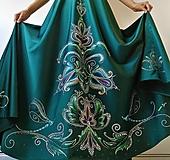 Sukne - maľovaná sukňa - 12396334_