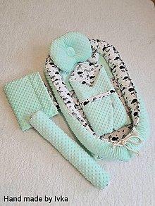 Textil - Hniezdo pre bábätko -  bledá mint - 12398206_