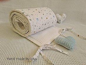 Textil - Zástena mantinel okolo postieľky / 60 cm/ - 12398518_