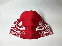 Rúška - Rúško červené folk,antibakteriálne - 12399456_