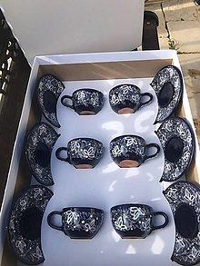 Nádoby - Set kávových/čajových šálok v bielej darčekovej krabici - 12396498_