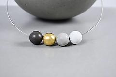 Náhrdelníky - Betónový náhrdelník - Points gold - 12398000_