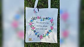 Nákupné tašky - ♥ Plátená, ručne maľovaná taška ♥ - 12397064_