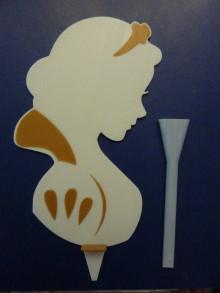 Dekorácie - Zápich do torty (Princezná veľký (26x14cm)) - 12396759_