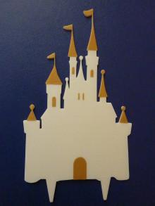 Dekorácie - Zápich do torty (Zámok malý (15cm)) - 12396778_